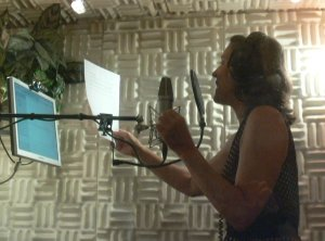Connie recording at MediaPiu in Italy in 2010